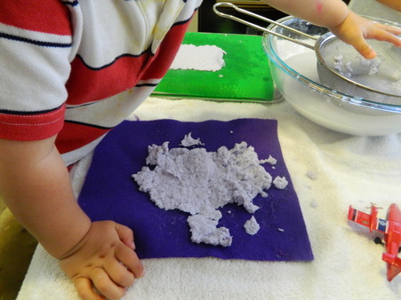How to make paper: An activity for young children.