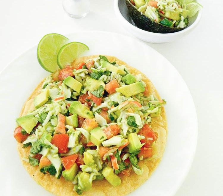 Crab Tostadas with Avocados From Mexico #ILoveAcovados