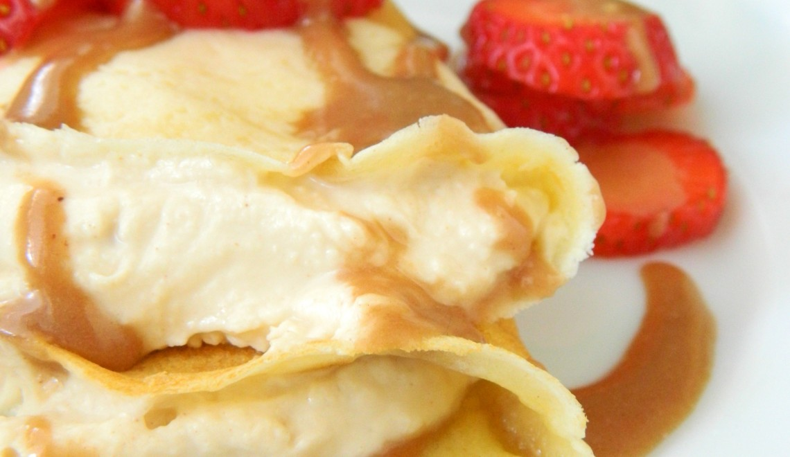 Peanut Butter Cream Filled Crepes