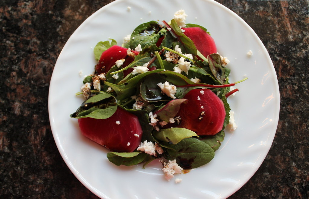 Beet salad with queso fresco