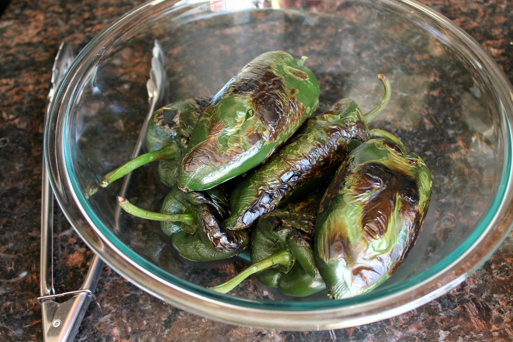Baked poblano peppers with mushrooms 2