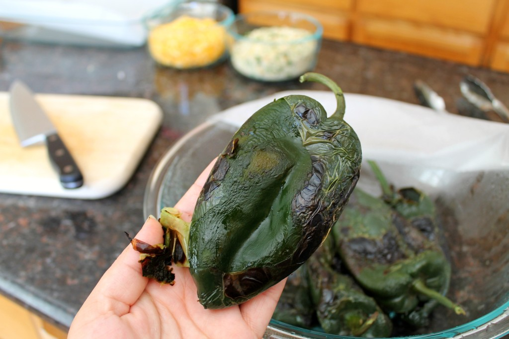 Baked poblano peppers with mushrooms 8