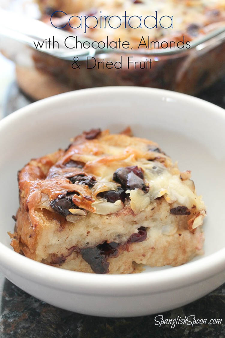 ... inspired bread pudding using french bread, chocolate, and dried fruit