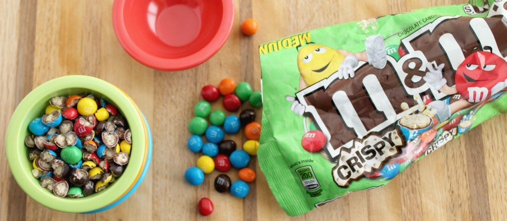 Coconut Ice Cream with M&M's® Crispy Candies