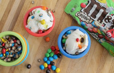 Soft Serve Coconut Ice Cream with M&M'S® Crispy