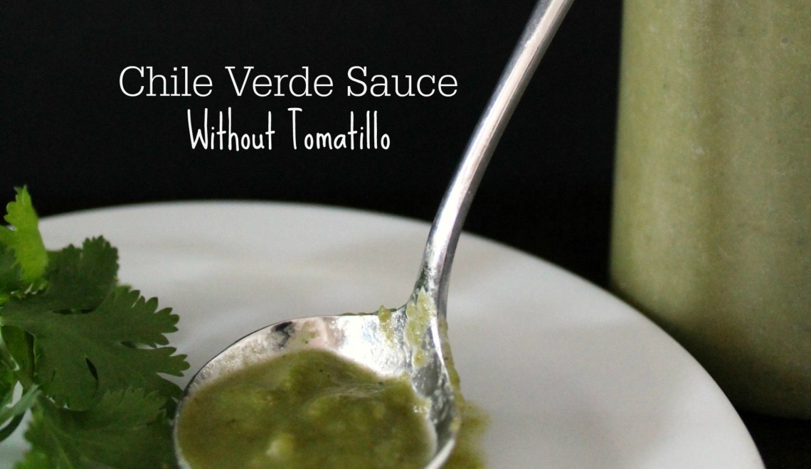Chile Verde Sauce Without Tomatillos