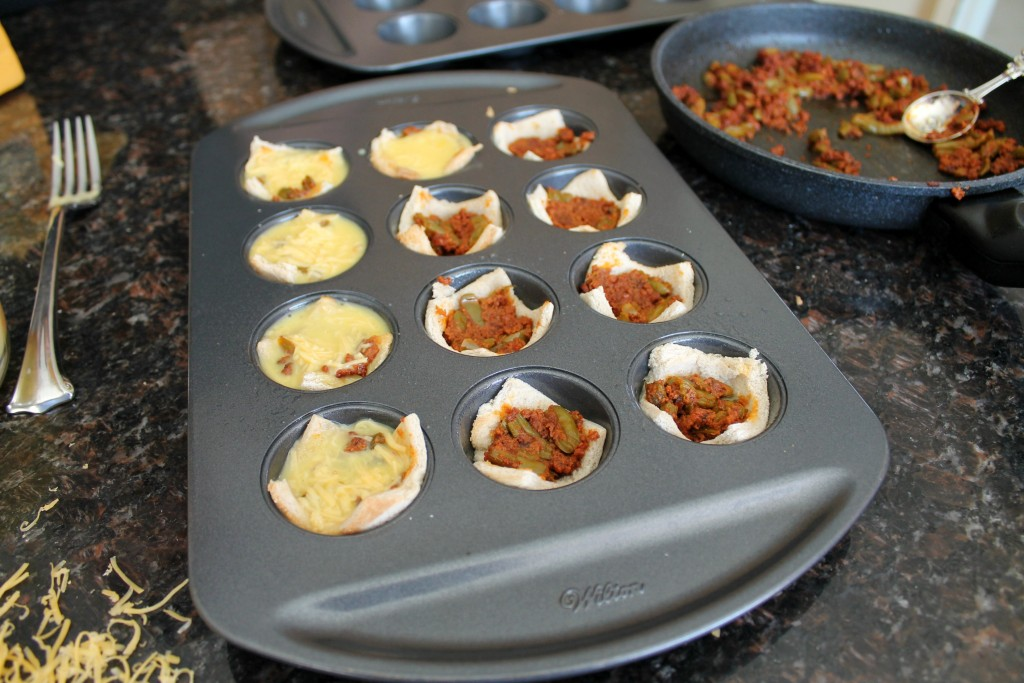 Mini Breakfast Muffins with Chorizo and Nopales 8