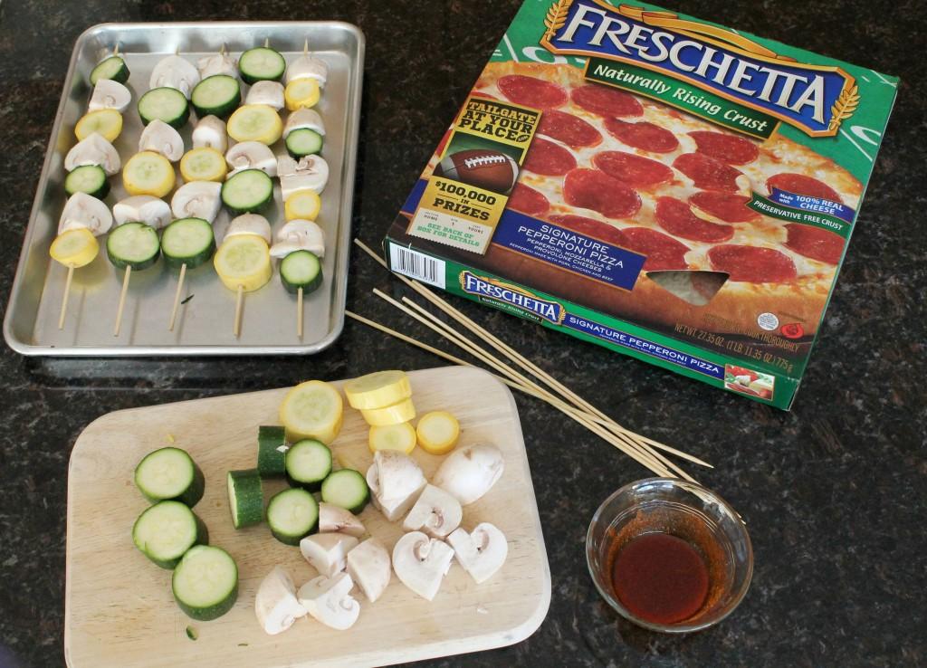 Grilled Seasoned Veggie Kabobs with Freschetta Pizza 3.2