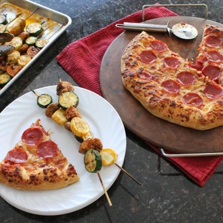 Grilled Seasoned Veggie Kabobs with Freschetta Pizza 8.2