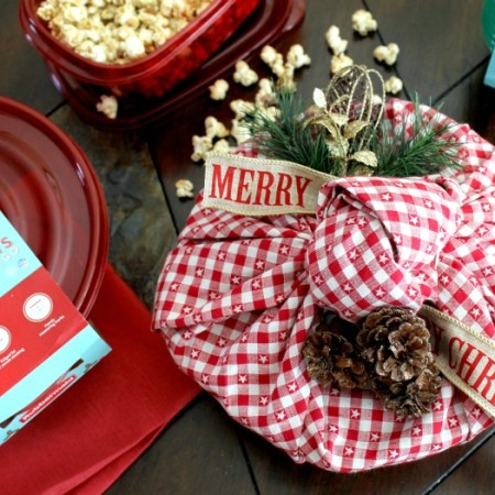 Candied pecans with popcorn 4.2