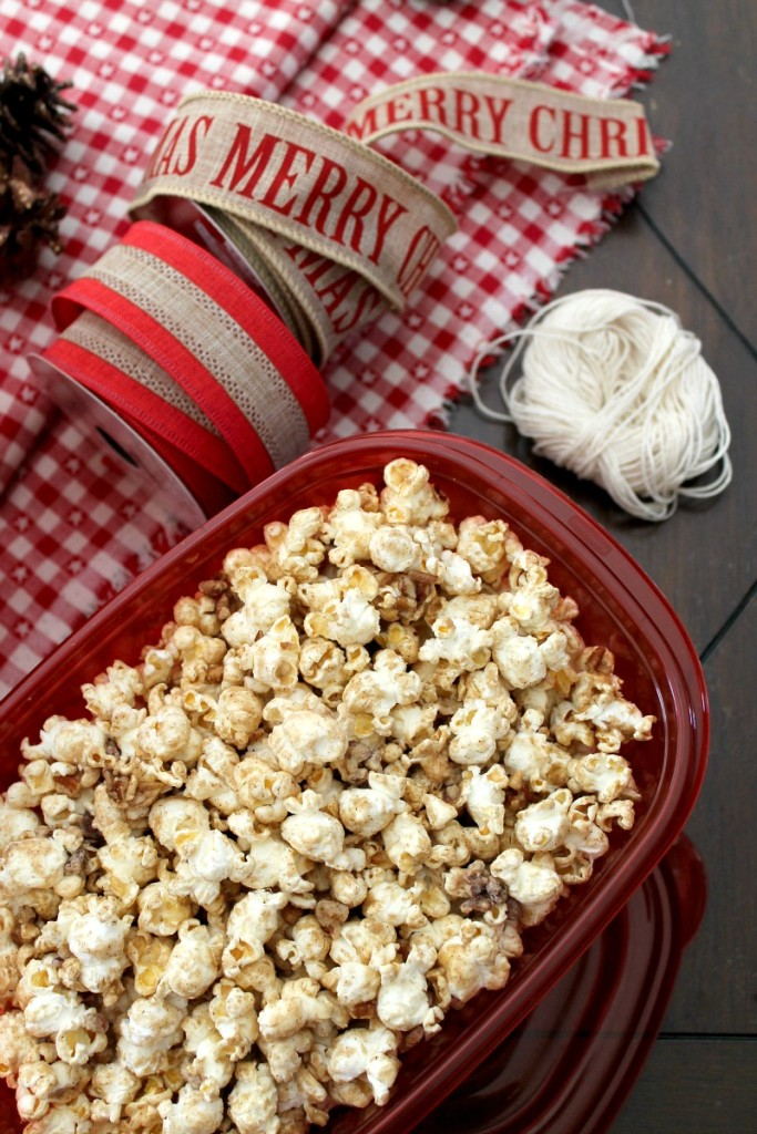 Candied pecans with popcorn 8