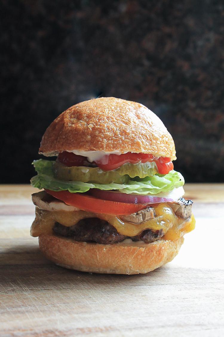 make ahead mushroom and beef hamburger patties spanglish spoon. Black Bedroom Furniture Sets. Home Design Ideas